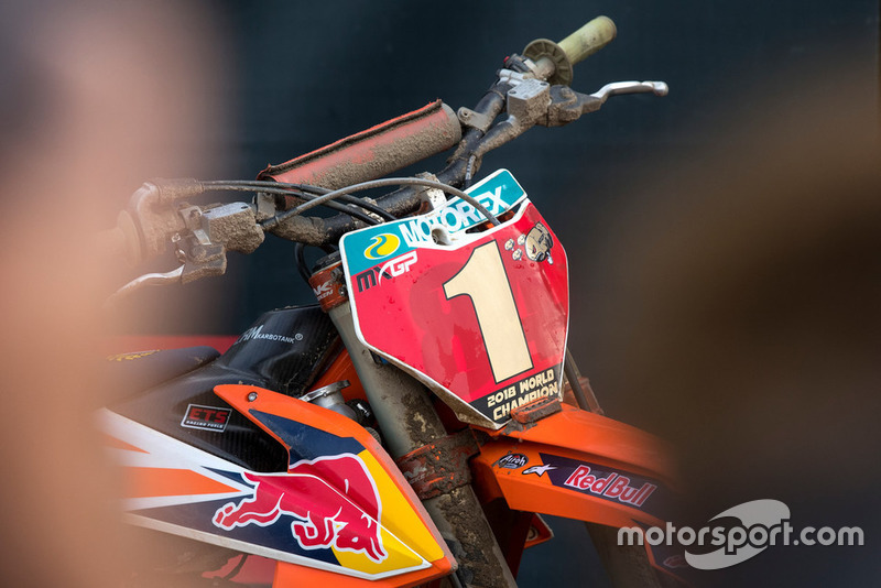 Placa roja de Jeffrey Herlings, Red Bull KTM Factory Racing