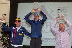 Winner Romain Dumas, Simone Faggioli, Peter Cunningham