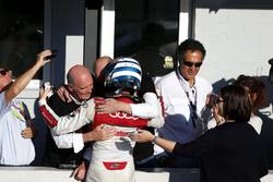 Il Campione 2017, René Rast, Audi Sport Team Rosberg, Audi RS 5 DTM con il Dr. Wolfgang Ullrich, Ex Capo di  Audi Sport