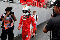 После аварии: Себастьян Феттель, Ferrari
