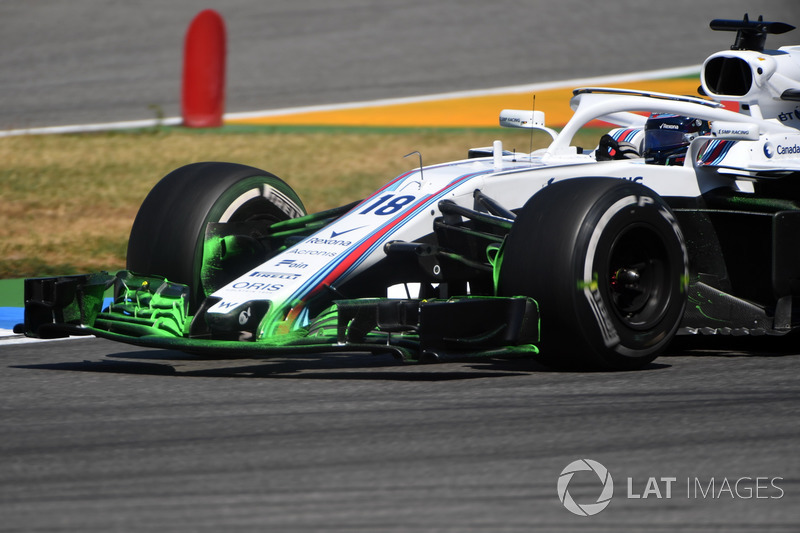 Lance Stroll, Williams FW41 with aero paint on the front wing