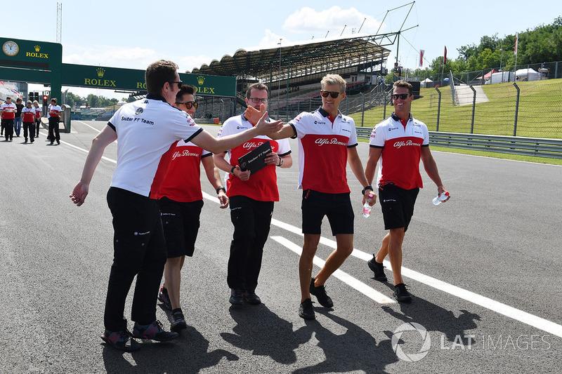 Ознакомление с трассой: Маркус Эрикссон, Alfa Romeo Sauber