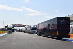 Red Bull Racing trucks and freight