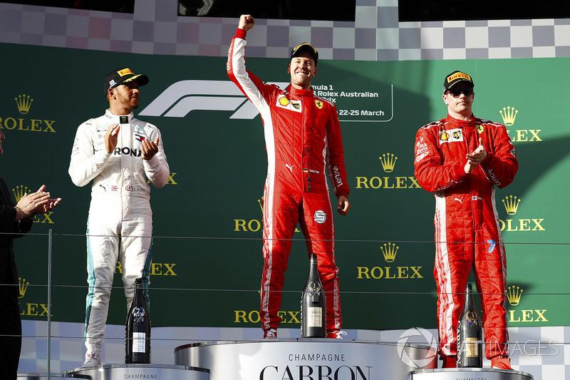 2018: 1. Sebastian Vettel, 2. Lewis Hamilton, 3. Kimi Räikkönen