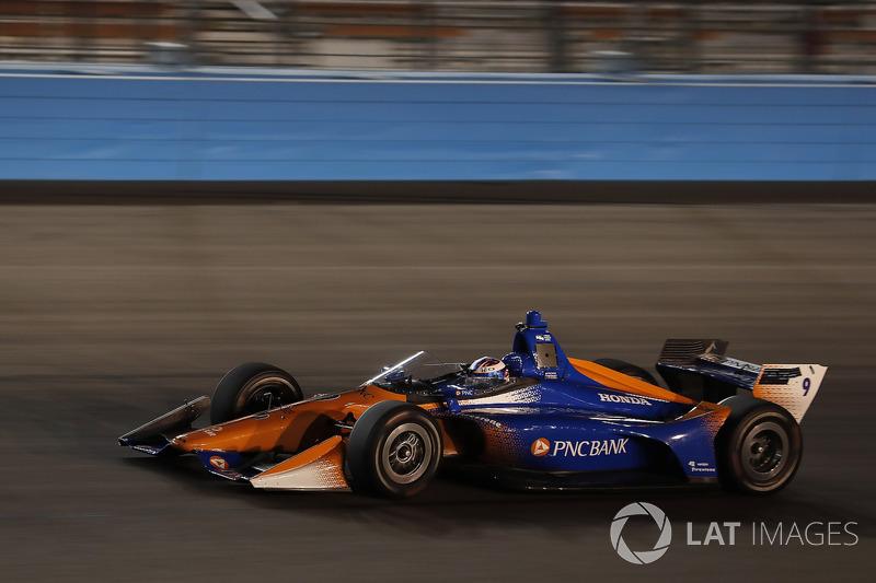 Scott Dixon, Chip Ganassi Racing Honda, yeni aeroscreen'i test ediyor