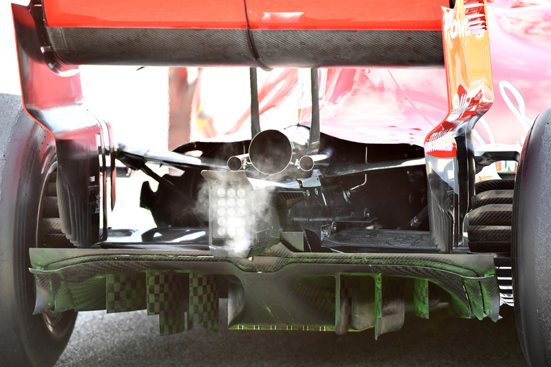 Ferrari SF-71H rear diffuser detail