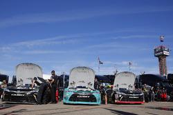 Christopher Bell, Joe Gibbs Racing Toyota, Erik Jones, Joe Gibbs Racing Toyota and Matt Tifft, Joe Gibbs Racing Toyota