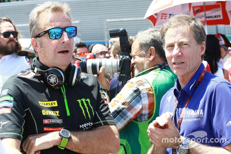 Hervé Poncharal, Monster Yamaha Tech 3 Team Principal, Lin Jarvis, Yamaha Factory Racing Managing Director