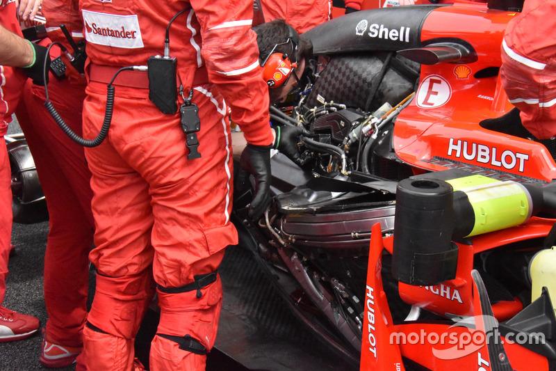 El motor del Ferrari SF70H