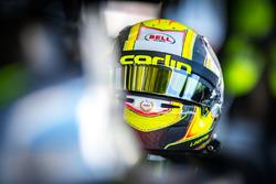 Helmet of Lando Norris, Carlin Dallara F317 - Volkswagen
