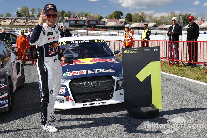 Il vincitore Mattias Ekström, EKS, Audi S1 EKS RX Quattro