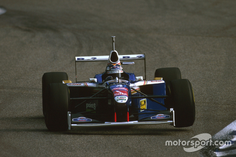 Heinz-Harald Frentzen, Williams FW1 nach der Kollision mit Irvine