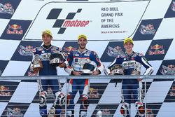 Podium: race winner Romano Fenati, Marinelli Rivacold Snipers, second place Jorge Martin, Del Conca