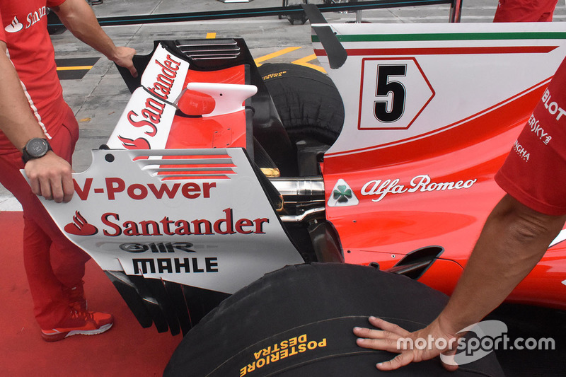 Ferrari SF70H detalle del alerón trasero