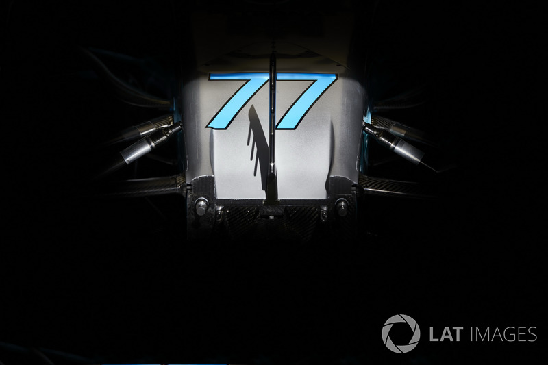 The number on the nose of the car driven by Valtteri Bottas, Mercedes AMG F1 W08