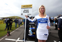 Grid girl of Jason Plato, Team BMR Subaru Levorg