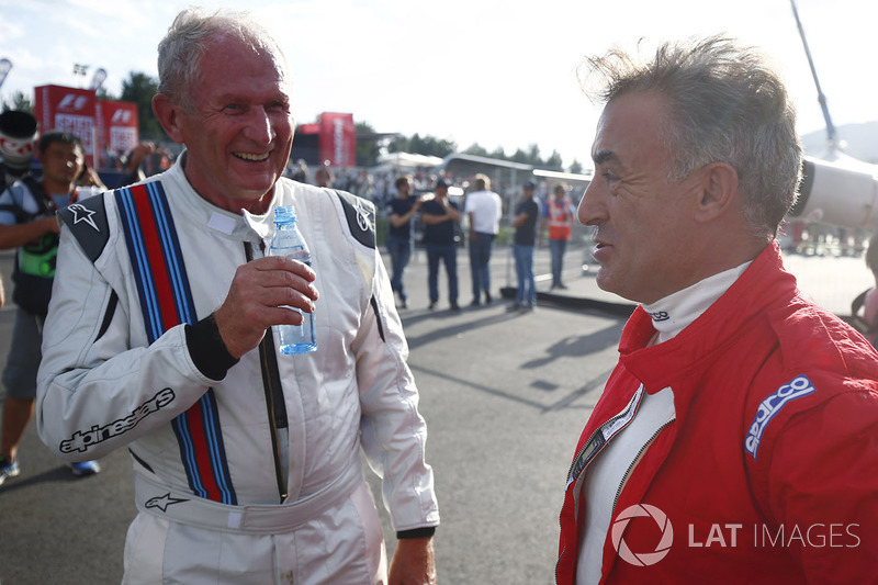 Helmut Marko, Consultant, Red Bull Racing, Jean Alesi