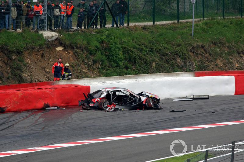 2005: accidente de Bernd Schneider, Mercedes AMG Clase C