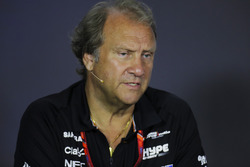 Bob Fernley, Deputy Team Principal, Force India, in the Team Principals' Press Conference