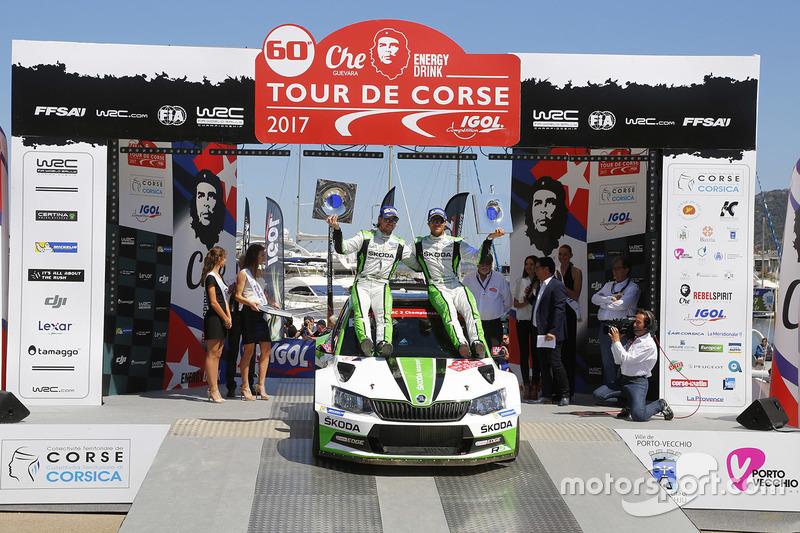 WRC2 winners Andreas Mikkelsen, Anders Jäger, Skoda Fabia R5