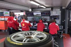 Team Penske Ford garage atmosphere