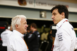 Charlie Whiting, FIA Race Director, Toto Wolff, Executive Director Mercedes