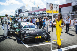Grid girl of Bruno Spengler, BMW Team RBM, BMW M4 DTM