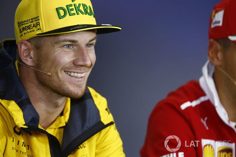 Nico Hulkenberg, Renault Sport F1 Team, en la conferencia de prensa