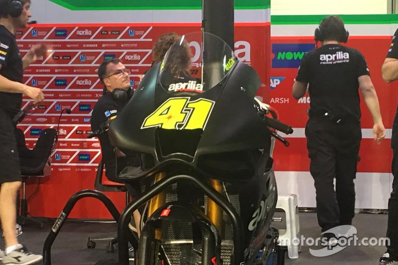 Алейш Еспаргаро, Aprilia Racing Team Gresini, із новим аеродінамічним обтічником