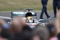 Lewis Hamilton, Mercedes AMG F1 W08, celebra
