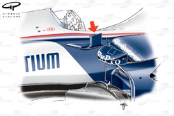 BMW Sauber F1.09 2009 chassis fin