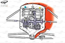 Ferrari F399 (650) 1999 chassis front bulkhead