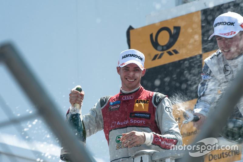 Podium, Edoardo Mortara, Audi Sport Team Abt Sportsline, Audi RS 5 DTM
