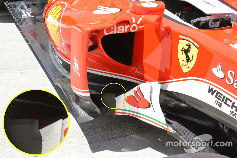 Ferrari SF16-H, bargeboards