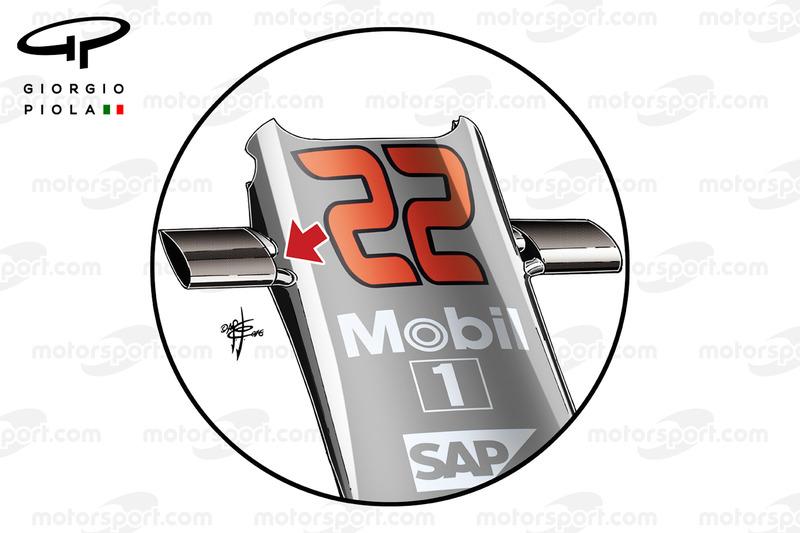 Свод на носовом обтекателе McLaren