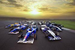 Le monoposto di F.1 della Williams per il 40esimo anniversario