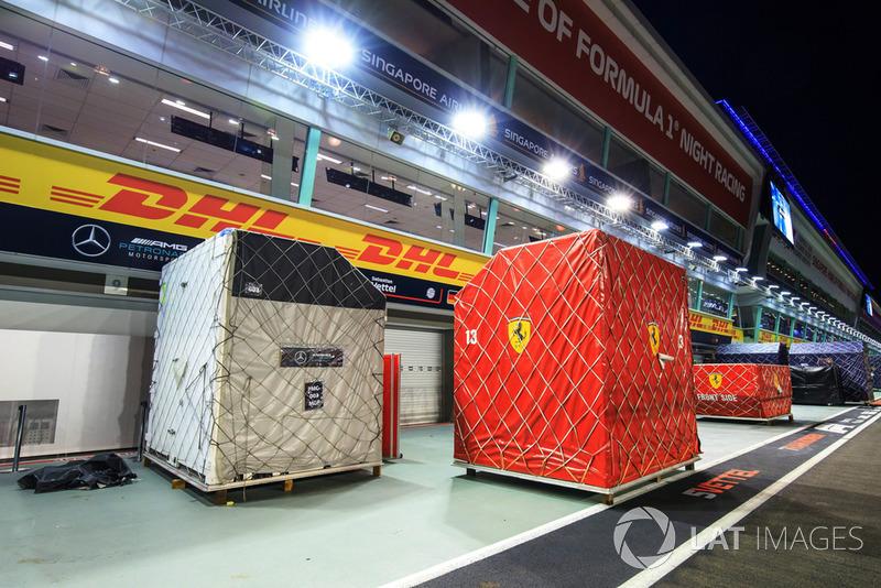 Ferrari en pit lane