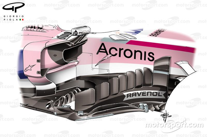 Force India nieuw bargeboard