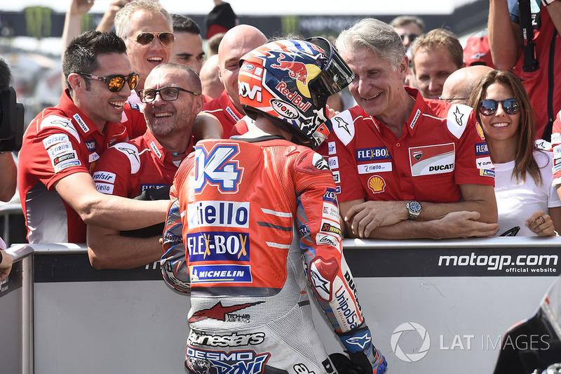 Pole sitter Andrea Dovizioso, Ducati Team