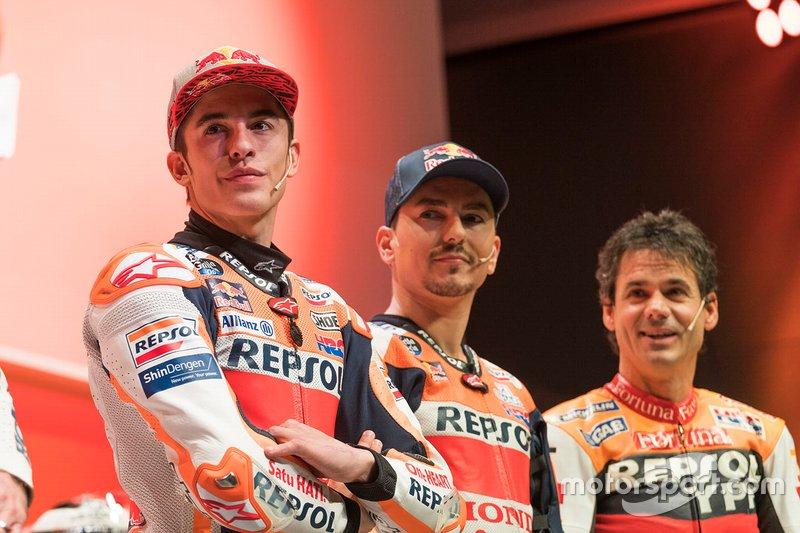 Alex Criville, Marc Márquez e Jorge Lorenzo, Repsol Honda Team
