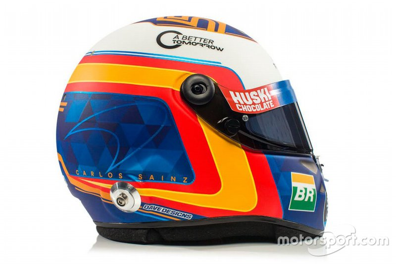 Le casque de Carlos Sainz Jr., McLaren
