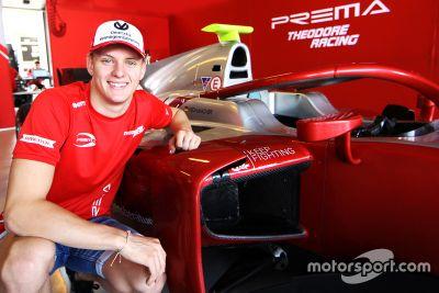 米克·舒马赫代表PREMA车队参加F2
