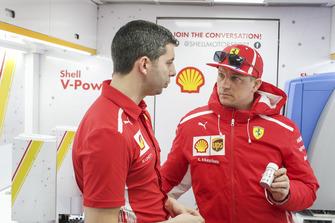 Kimi Raikkonen, Ferrari in Shell Track Lab