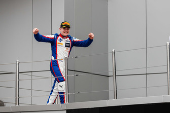 Podium: race winner David Beckmann, Trident