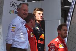 Podyum: Yarış galibi Max Verstappen, Red Bull Racing, 2.Kimi Raikkonen, Ferrari, 3. Sebastian Vettel, Ferrari, Jonathan Wheatley, Red Bull Racing