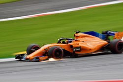Fernando Alonso, McLaren MCL33 kıvılcımlar