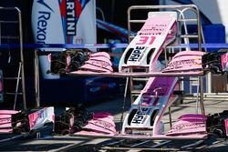 Alas delanteras del coche de Sergio Pérez, Force India y Esteban Ocon, Force India