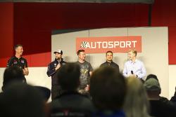 BTCC champions Matt Neal, Andrew Jordan, Gordon Shedden, Colin Turkington and Ashley Sutton talk to Henry Hope-Frost on the Autosport Stage
