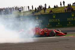 El incidente entre Max Verstappen, Red Bull Racing RB14 y Sebastian Vettel, Ferrari SF71H