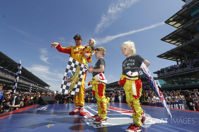 Ryan Hunter-Reay, Andretti Autosport Honda con i figli Ryden, Rocsen e Rhodes